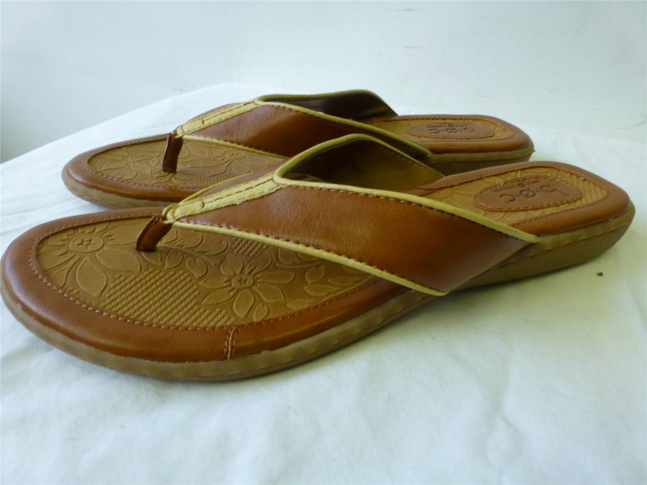 NEW brown womens BOC BORN Concept brown NEW slip sandals flip flops thongs shoes sz 10 42 ccf7b8
