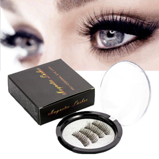 4 PC Magnetic False Eyelashes 6D Handmade Black Reusable Soft Natural Eye Lashes