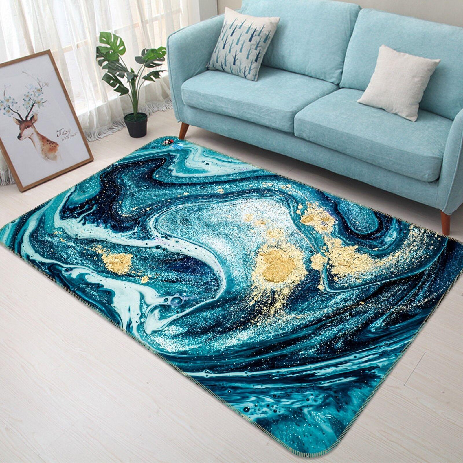3d ONDA MARE anime 6 antiscivolo tappeto bagagliaio Qualità Tappeto Elegante De