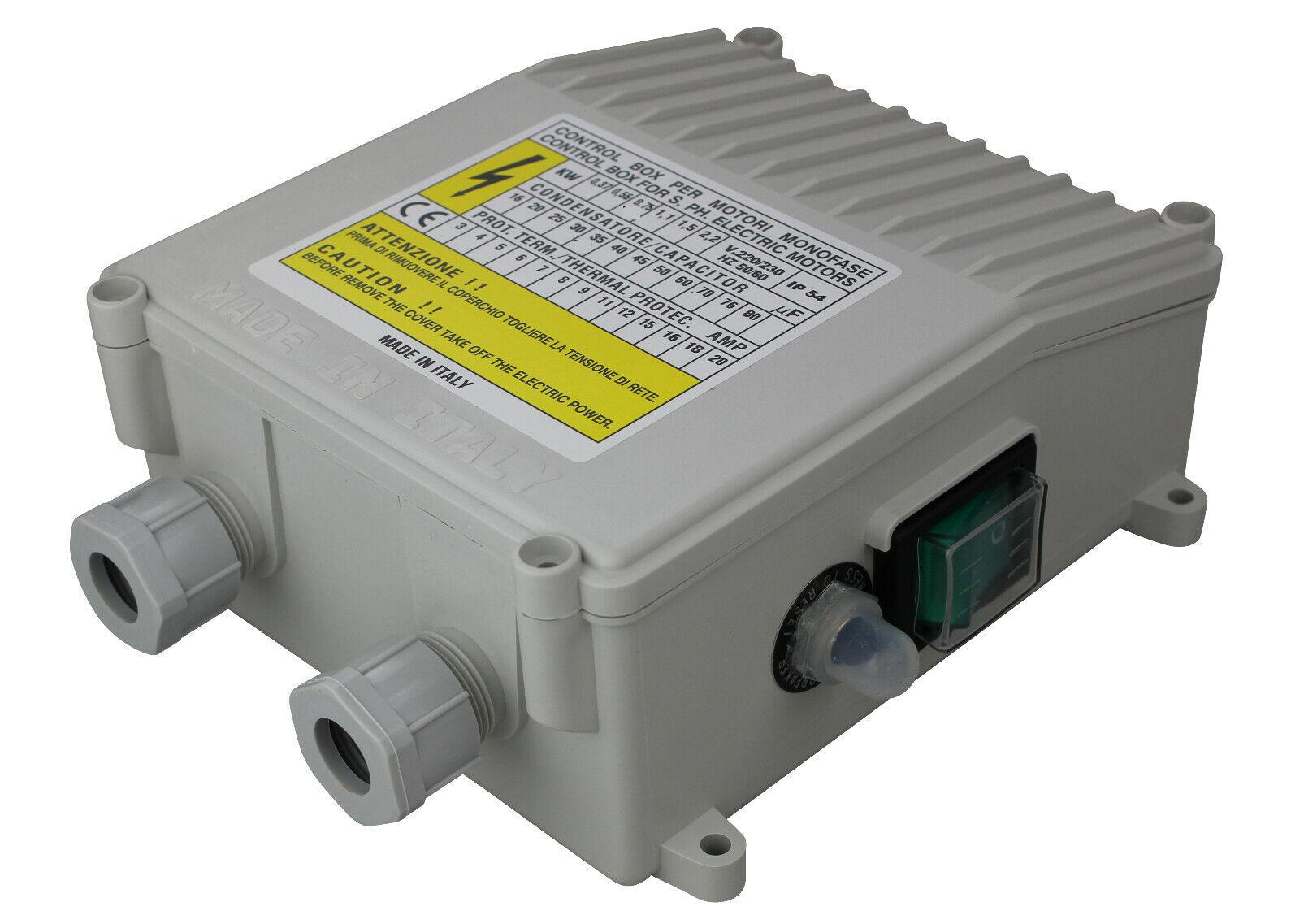 ControlBox 20μf, 6a, 0,55kw, 230v con projoección de motor, condensador y un-de