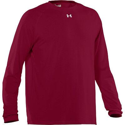 NEW Mens UA UNDER ARMOUR Heat Gear Cardinal Red Burgundy 1233673 625 L/S Shirt
