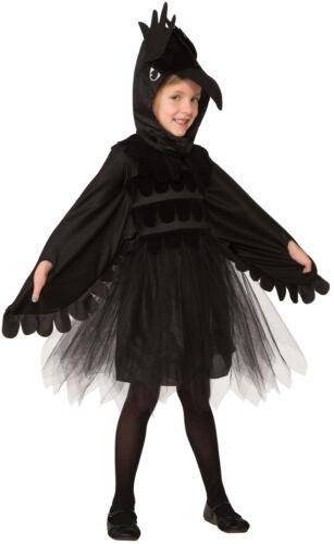 Raven Unisex Child Black Bird Evil Crow Halloween Costume