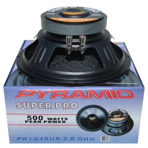WOOFER NERO PYRAMID PW1048USX 25,00 CM 250 WATT RMS IMPEDENZA 8 OHM CASA DISCO