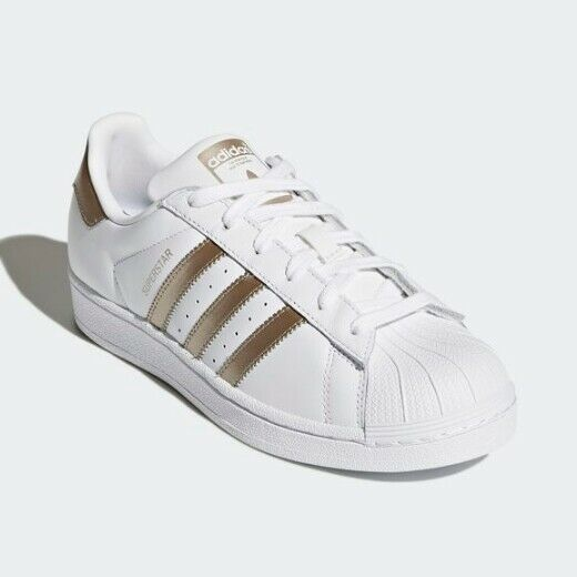 New Adidas Unisex Originals Superstar Athletic schuhe - Weiß Gold Weiß(CG5463)