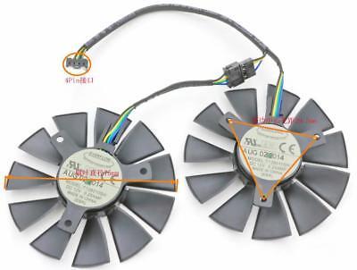 For 1set ASUS STRIX Raptor RX460 RX560 graphics card radiator T128010SH fan