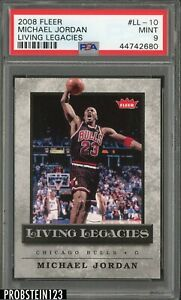 2008-09-Fleer-Living-Legacies-Michael-Jordan-Chicago-Bulls-HOF-PSA-9-MINT