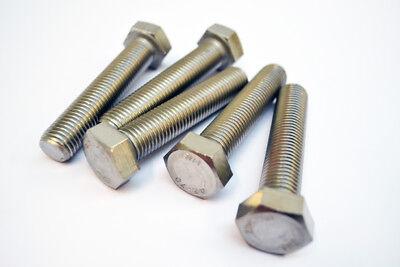 M16 x 80mm Hexagon Hex Head Set Screws Full Thread Bolts A2 Stainless DIN 933
