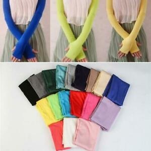 Cool-Women-Sleeves-Cotton-Arm-Fingerless-Long-Gloves-UV-Protection