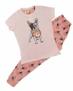 Girls Pyjamas Cute French Bulldog Loungewear Style 8-9 Years up to 16 Years