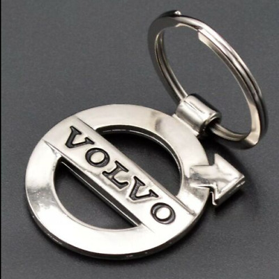Volvo Car Logo Keychain Keyfob 3D Chrome Metal Car key Chain keyring