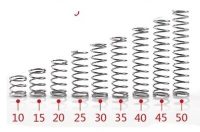 x2 35mm x 4mm COMPRESSION SPRING OD STAINLESS STEEL MICRO SMALL OD 4mm x 35mm