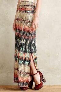 Anthropologie-Weston-Wear-Remy-Maxi-Skirt-Multicolor-Geometric-Medium