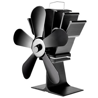 Greatideal Kamin-Ventilator K/ühler thermische Leistung verschlei/ßfest Ofenventilator f/ür Holz//Kamin Umweltschutz /Überhitzungsschutz thermischer Energie-Ofen-Ventilator 5 Fl/ügel