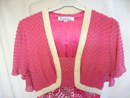 Libelula Top Pure texturé taille Robe Silk 2145 femme 38 Jupe pour contrastante rose RxwnvXvE