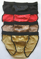 4 Mens 100% Silk String Bikini Briefs Us M S Waist 28 30 32 34 Best Gift