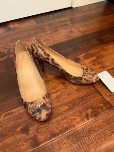 patent leather leopard pumps