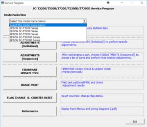 Service soft tool program  Epson SureColor T3000 T5000 T7000 /& Service Manual