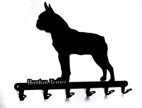 Key Board Boston Terrier Design Dog Hook Bar Steel
