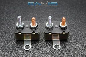 2 pcs 20 amp auto reset circuit breaker electric wiring power rh ebay com