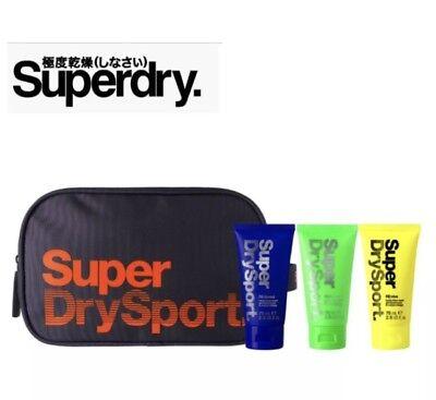 Superdry Da Uomo Sport Wash Weekend Viaggi Lavare Borsa Viaggio Attivo Set Regalo Nuova Tag-mostra Il Titolo Originale