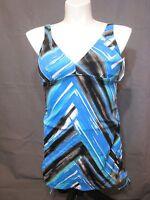 Fashion Bug Swimwear Wire Free Lined Tankini Top Plus Size 16w