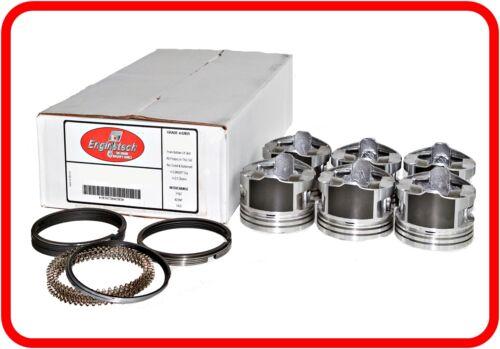 Dish-Top Pistons /& Rings 6 03-10 Toyota LandCruiser//FJ 4.0L DOHC V6  /'1GRFE/'