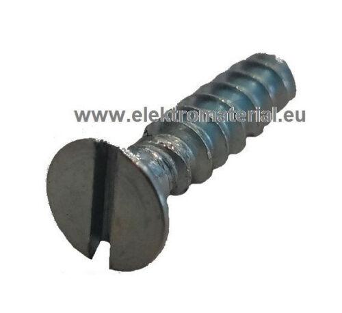 100 Stück Geräteschraube für Schalterdosen 15mm Schlitz Schrauben