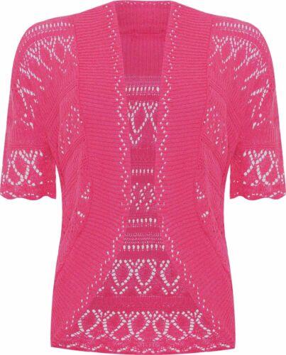 Strick Jacke Gr.80 Esprit NEU 100/% Baumwolle bolero kurz pink glitzer baby