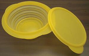 Tupperware-B-36-Minimax-Mini-Max-700-ML-Jar-Container-Lid-Yellow-Foldable-NEW