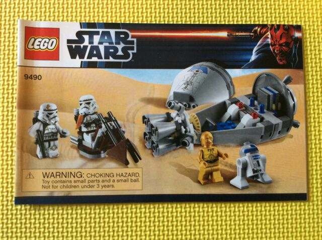 Lego Star Wars 9490 Droid Escape Manual Instructions Only Ebay