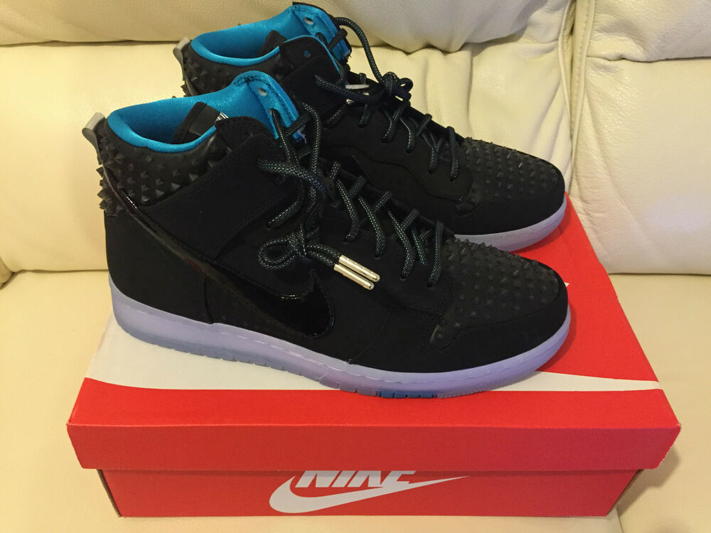 2015 NIKE DUNK high CMFT PRM AS ALL STARS noir taille uk 10.5 us 11.5 neuf  look -