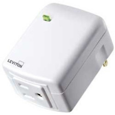 Leviton DZPA1-2BW Decora Smart Plug-in Outlet with Z-Wave Technology, White