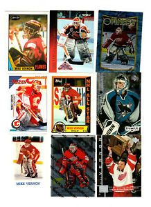 88-count-lot-mixed-Mike-Vernon-CARDS-57-different-Red-Wings-Goalie-87-88-98-99