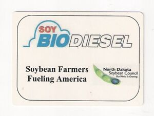 Poker size deck playing cards advertising Soy BioDiesel, soybean farmers of ND