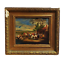 thumbnail 2 - Antique oil painting Barbe millboard naïve Continental fantasy pastoral 1830s