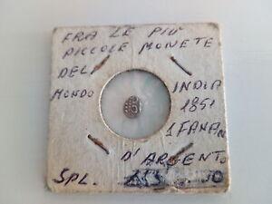 Rara-India-1851-Moneta-Piu-Piccola-del-Mondo-1-Fanan-D-039-argento