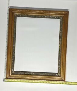 "Antique Ornate Gilded Gesso Hardwood Frame Art Picture 20'' X 16""' (I.D.)"