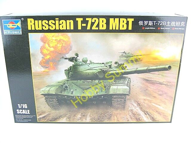 1 16 Russia  T-72 B  Main Battle Tank  Trumpeter Soviet  Armored Kit  00924 WWII