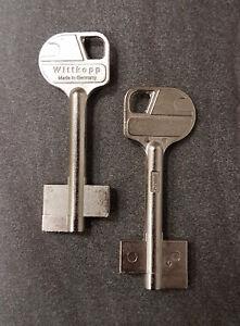 2x-Tresorschluessel-Safe-Rohling-Wittkopp-6CAW2-Silca-Keyblank