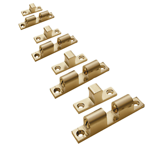 42mm Adjustable Double Brass Ball Catch With Screws Ideal For Wardrobes