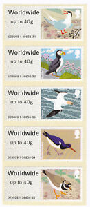 GB-2011-Birds-of-Britain-IV-Post-and-Go-Worldwide-up-to-40g-stamps-x-5-SG-FS26