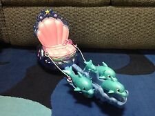 Disney Little Mermaid ARIEL Shimmering Lights & Sounds Dolphin Chariot Carriage