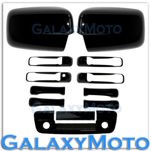 Dodge Ram 1500+2500 Gloss Black Mirror+4 Door Handle+Tailgate Cam+Key Ho Cover