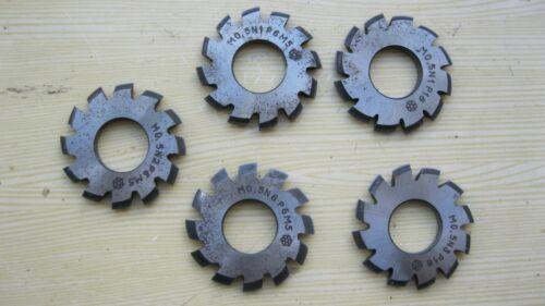 Involute Gear Cutter M 0,5 M1,0 PA 20° HSS.