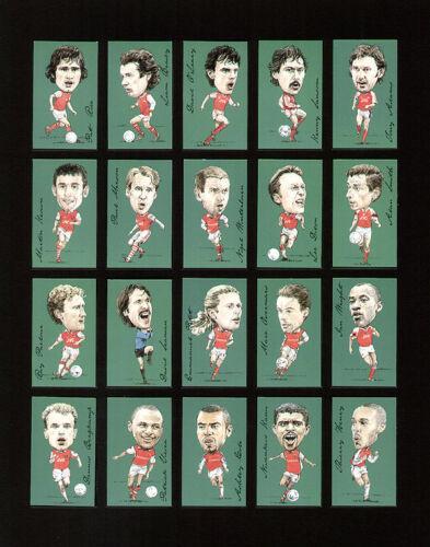 Arsenal famosos futbolistas Tarjetas de coleccionistas-Marinero Adams Dixon Wright Bergkamp