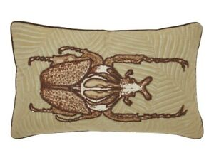 DUTCH-DECOR-housse-de-coussin-VOTRO-scarabee-brode-30-cm-50-cm-sofa-cushion