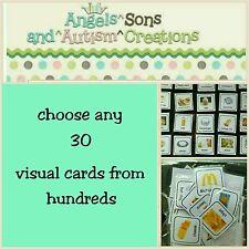 Usted Elige 30 tarjetas visual de cientos-Autismo/no verbal/alumno visual