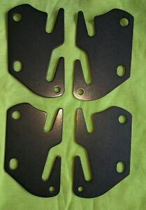 4 Bed Rail Double Hook Flat Slot Plates Fits 2\