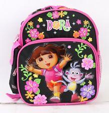 NEW DORA THE EXPLORER Girls 10'' Mini Backpack Kids Mini School Book Bag Black