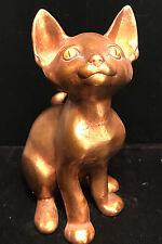 Mid-Century Ceramic Gold Leaf CAT FIGURE ~ Freeman McFarlin Pottery by Anthony